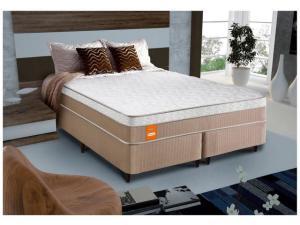 Cama Box Queen Size (Box + Colchão) Celuplás Mola - Vanille Softgel. R$ 949,05