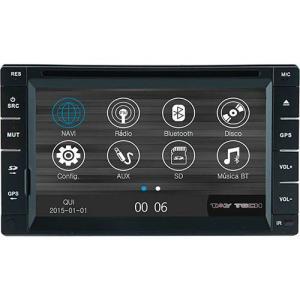 "Central Multimídia Universal S95 Tela de 6,2"" Tela Touch Screen com Bluetooth e Antena de TV Navegador GPS - Tay Tech por R$499,99"