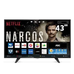 "Smart TV LED 43"" Full HD AOC LE43S5977 com Wi-Fi, Botão Netflix, App Gallery, Conversor Digital Integrado por R$ 1439"