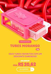 Bala Fini Tubes Morango 1kg - R$20,62