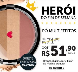 Pó Multiefeitos quem disse berenice [bronzer, iluminador, blush] - R$51,90