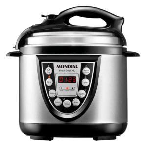 Panela Elétrica de Pressão Pratic Cook 4L Prata Mondial - R$ 188,01