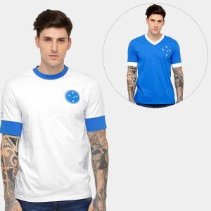 Kit Camiseta Réplica 1954 + Camiseta Réplica Cruzeiro - Branco - R$ 109,90