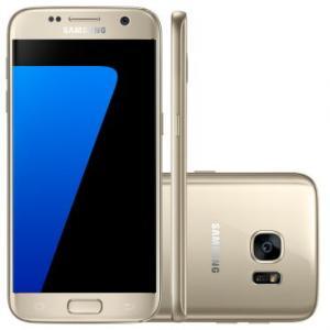 Celular Smartphone Samsung Galaxy S7 G930F Dourado - 4G, Tela 5.1 Super AMOLED, Câmera 12MP + Frontal 5MP, Octa-Core 2.3Ghz, 32GB, 4GB RAM, Android 6