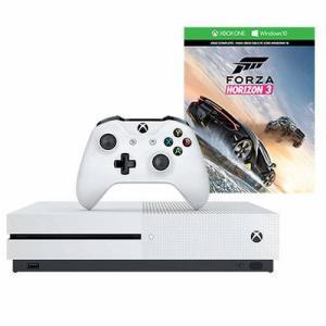 X-Box One S 500GB Branco + Jogo Forza Horizon 3 - R$ 1.049,00