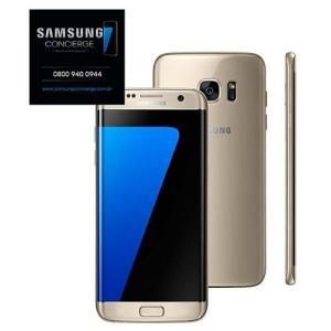 """Smartphone Samsung Galaxy S7 edge Dourado com 32GB, Tela 5.5"""", Android 6.0, 4G, Câmera 12MP e Processador Octa-Core R$1.180"""