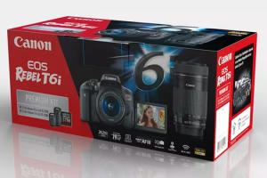 Canon EOS Rebel T6i Premium Kit BR - R$3200