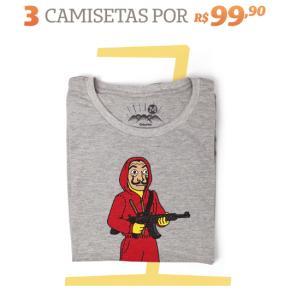 3 camisetas por R$99,90 na Chico Rei