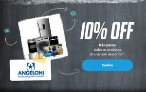 Pagando com PayPal no site Angeloni, Ganhe 10% de desconto