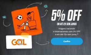 Pague com PayPal no site da Gol e ganhe 5% de Desconto na compra de passagens
