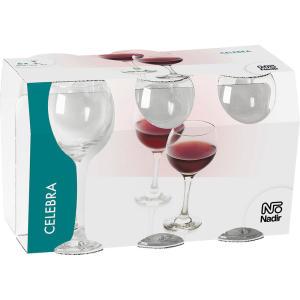 Conjunto 6 Taças para Vinho Tinto 300ml Celebra Nadir - R$17,91