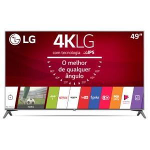 "Smart TV 4K LG LED 49"" Controle Smart Magic Nano Cell™ Display WebOS 3.5 49UJ7500 - R$2510"