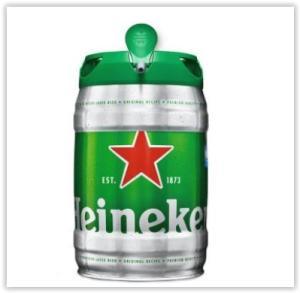 Cerveja Heineken barril 5 litros por R$ 60
