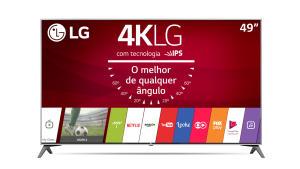"Smart TV 4K LG 49UJ7500 LED 49"" Nano Cell™ Display, webOS 3.5, Controle Smart Magic - R$ 2429"