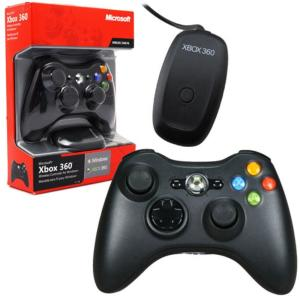 Controle Xbox 360 Sem Fio Com Adaptador Wireless Para PC - Microsoft - R$94