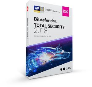 Bitdefender Total Security 2018 - 6 Meses grátis