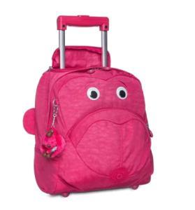 Mochila De Rodinhas Wheely Rosa Cerise Pink Kipling - R$ 549