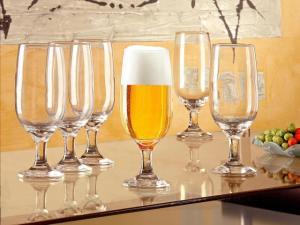 Conjunto de Taças de Vidro para Cerveja 6 Peças - 300ml Nadir Floripa 7732 - R$29,90
