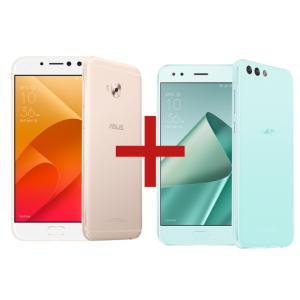 ZenFone 4 Selfie Pro 4GB/64GB Dourado + Zenfone 4 3GB/32GB Mint Green R$ 2095,00