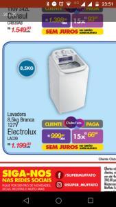 [SJRP/SP] Lavadora Electrolux lac09 8,5kg