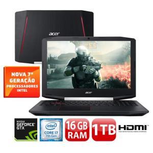 "Notebook Gamer Acer Aspire VX5-591G-78BF - GeForce GTX 1050Ti Core i7-7700HQ 16GB 1TB Tela Full HD 15.6""  - R$ 4065"