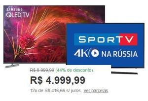 2 TVs PELO PREÇO DE UMA!!! Samsung Qled 55 + tv led 43 - R$ 5000