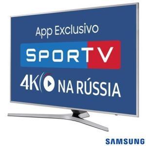 "Smart TV 4K Samsung LED 55"" 55MU6400 Quad Core, HDR, 3 HDMI 2 USB - R$ 3413"
