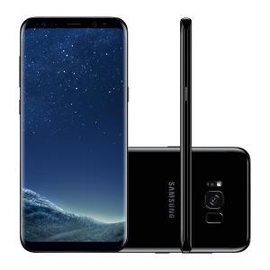 "Smartphone Samsung Galaxy S8+ SM-G955FD 64GB Preto 4G Tela 6.2"" Câmera 12MP Android 7.0 - R$2.590"