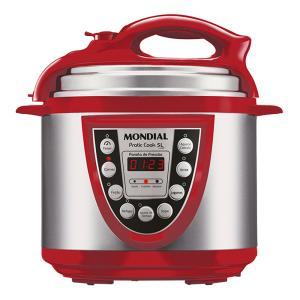 Panela Elétrica de Pressão Pratic Cook 5L Vermelha Mondial - PE-12 - R$215