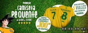 Adquira uma camiseta temática e concorra a R$100 em compras na REDBUG (até 17/06)