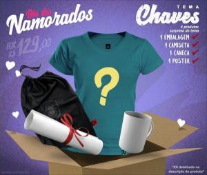 Kits temáticos para namorada (4 itens) por R$129 na REDBUG (até 12/06)