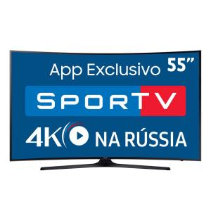 "Smart TV LED 55"" UHD 4K Curva Samsung 55MU6300 com HDR Premium, Tizen, Steam Link - R$ 2960"