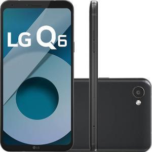 "Smartphone LG Q6 Dual Chip Android 7.0 Tela 5.5"" Full Hd+ Octacore 32GB 4G Câmera 13MP - Preto"