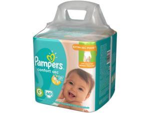 Fraldas Pampers Confort Sec Tam. G 60 Unidades - Extra Sec Pods - R$59,90