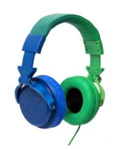 Fone de Ouvido Chilli Beans Supra Auricular Azul e Verde HEDGE TM-611MV/2-3 ,R$89