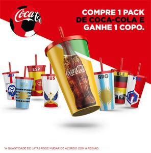 Compre 1 pack de Coca-Cola e ganhe 1 copo