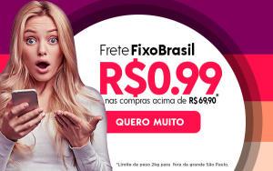 Frete fixo de R$0,99 para todo Brasil na Netfarma