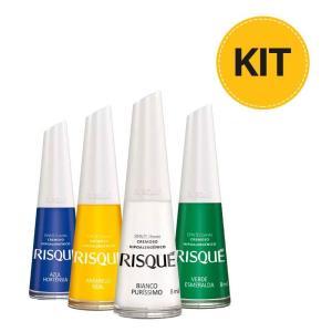 Kit Risqué Cores do Brasil - R$9,90