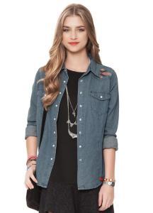 Camisa Jeans Azul Gloss R$45