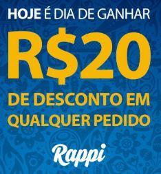 R$ 20 OFF no Rappi com o Vai de Visa