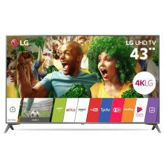 "Smart TV LED 43"" LG 4K/Ultra HD 43UJ6565 webOS 3.5 2 USB 4 HDMI - R$ 1805"