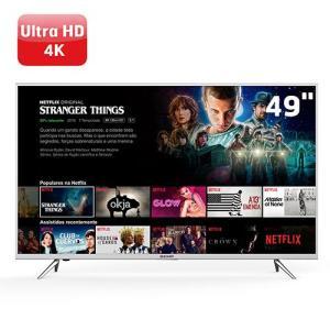 "Smart TV LED 49"" Semp TCL 49K1US Ultra HD 4K HDR 3 HDMI 2 USB - R$ 1979"