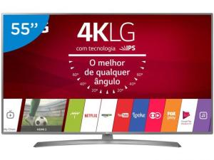 "Smart TV LED 55"" LG 4K/Ultra HD 55UJ6585 webOS 3.5 - 2 USB 4 HDMI - R$ 3099"