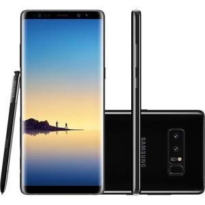 "Smartphone Samsung Galaxy Note 8 Dual Chip Android 7.1 Tela 6.3"" Octa-Core 64GB 4G Wi-Fi Câmera Dual Cam 12MP - Preto R$2880"