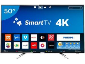 """Smart TV LED 50"""" Philips 4K/Ultra HD 50PUG6102/78 - R$ 1899"""