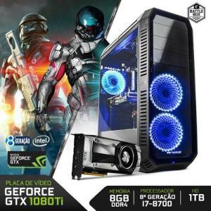 PC Gamer Neologic Battle Box NLI80385 Intel i7-8700 8GB(GeForce GTX 1080TI 11GB) 1TB  R$ 8389,00