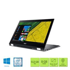 "Notebook 2 em 1 Acer Spin 5 SP515-51GN-89FN Intel Core i7 8ª geracao 8GB RAM 512GB SSD NVIDIA® GeForce® GTX 1050 com 4 GB GDDR5 15.6"" Full HD Windows 10 - R$5.107"