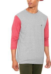 Camiseta Volcom Solid Heather Cinza R$42