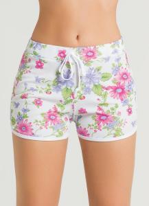 Short feminino com elástico floral R$9,99