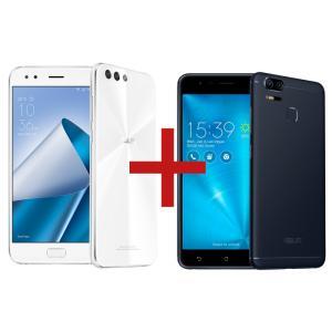 Zenfone 4 4GB/64GB Snapdragon 660 Branco + Zenfone Zoom S 3GB/32GB Preto - R$ 2199